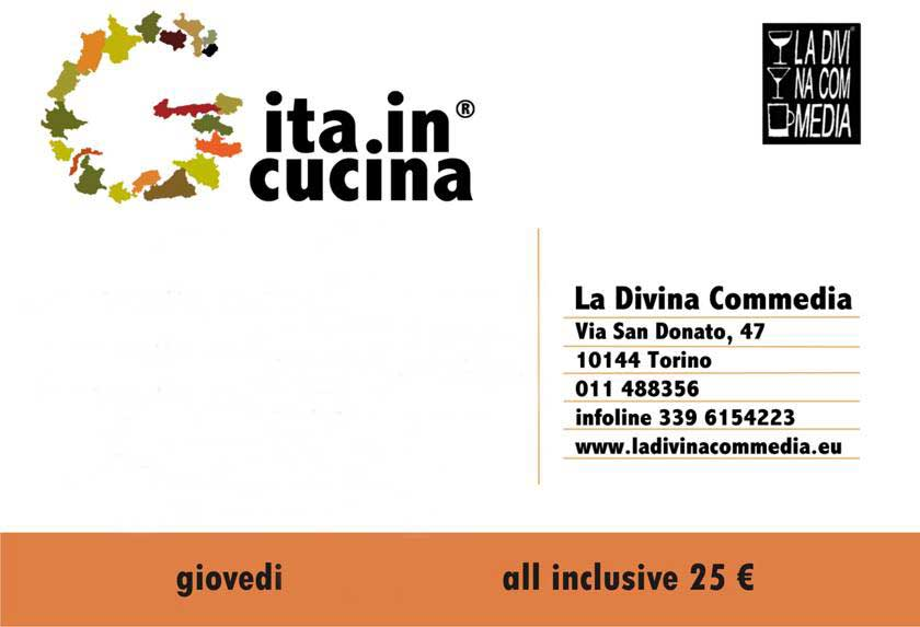 Gita in Cucina - Giovedì Divina Commedia